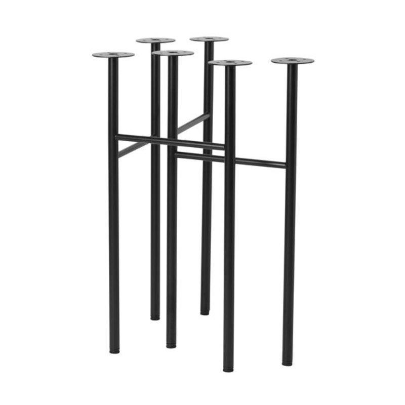 ferm LIVING-collectie Tafelpoot set Mingle 48 cm - Zwart