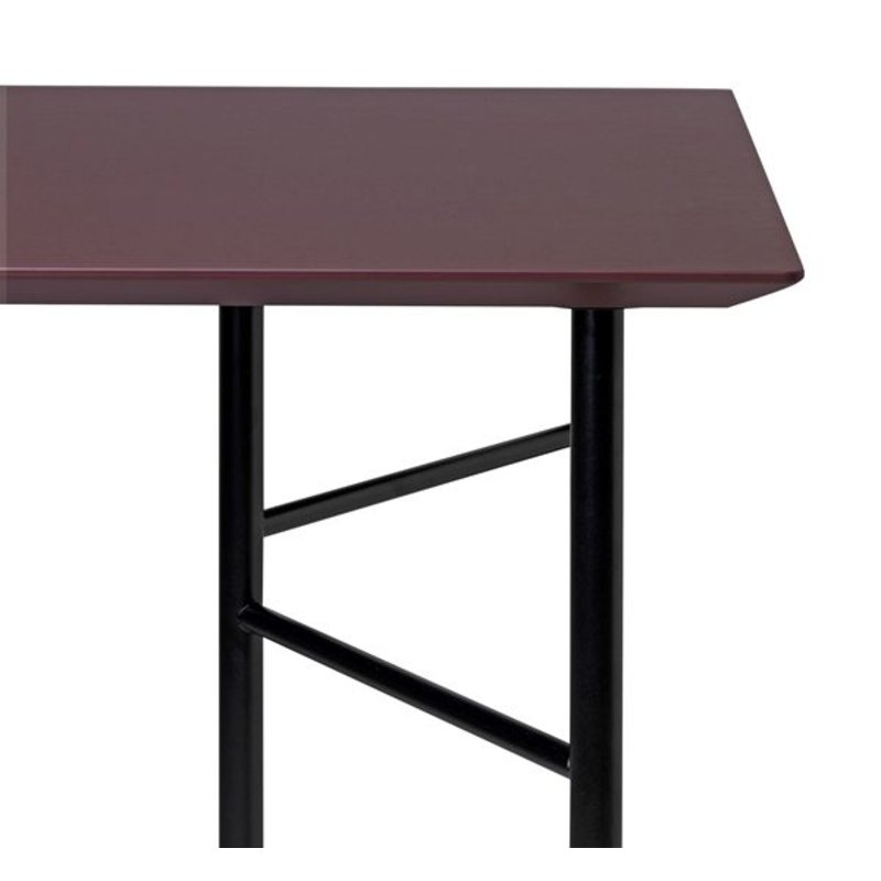 ferm LIVING-collectie Mingle Table Top 160 cm - Linoleum - Bordeaux