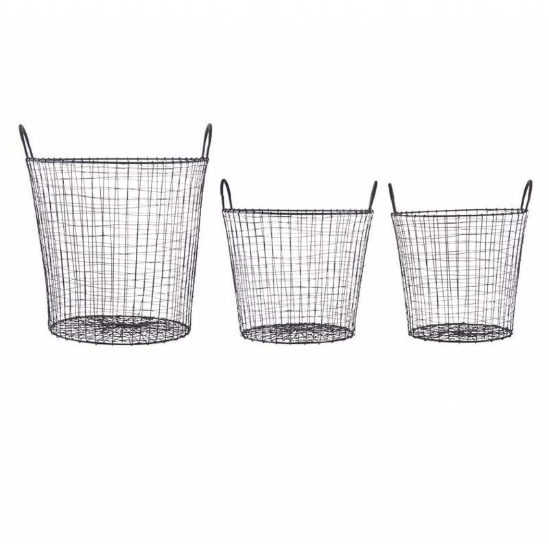 House Doctor-collectie Basket WIRE - Black