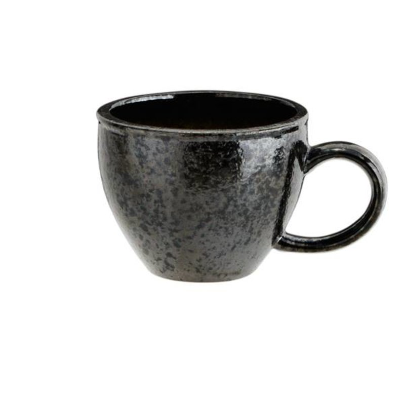 Madam Stoltz-collectie Stoneware mug green-grey