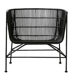 House Doctor-collectie Rattan stoel COON - zwart