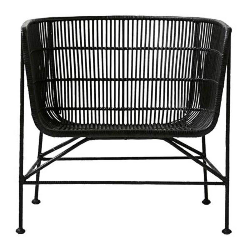 House Doctor-collectie Loungestoel CUUN - zwart