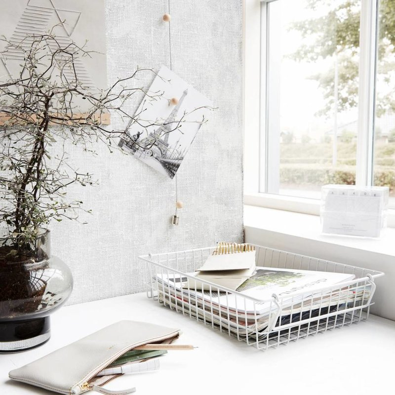 House Doctor-collectie Basket STAK white
