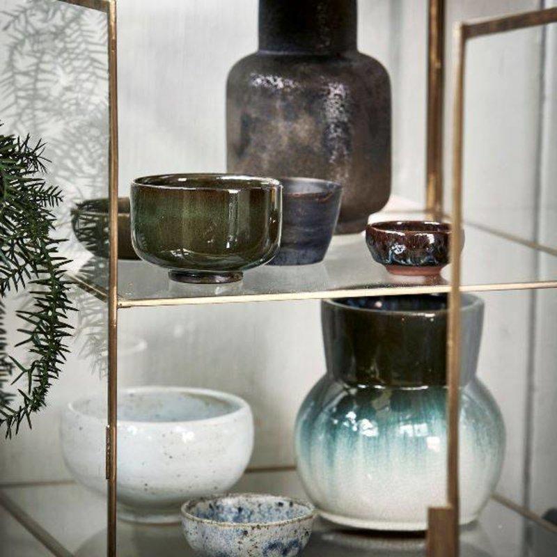 House Doctor-collectie Glazen vitrinekast met messing