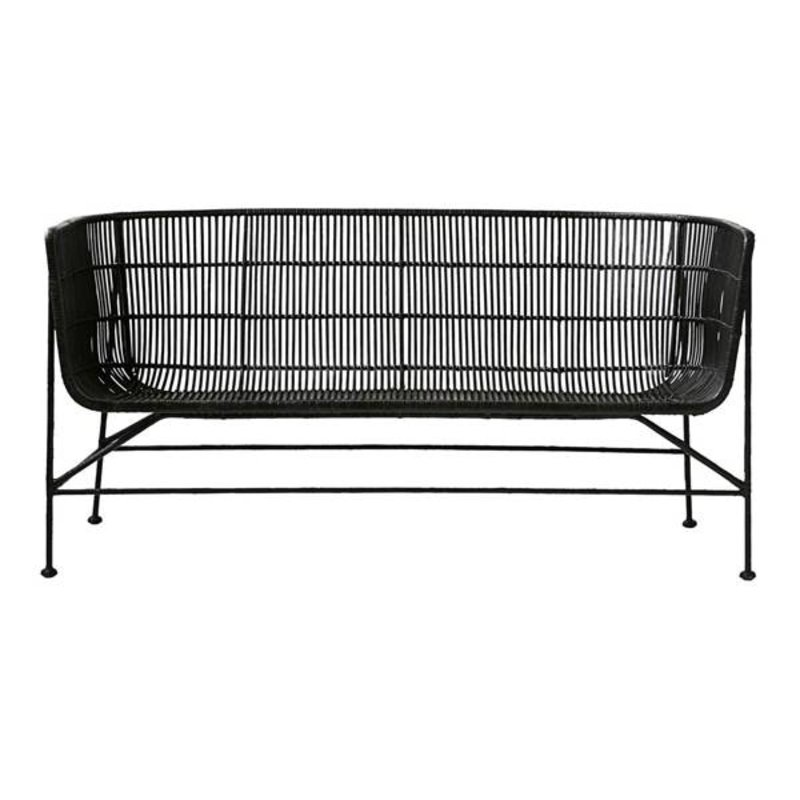 House Doctor-collectie Loungebank COON zwart rattan