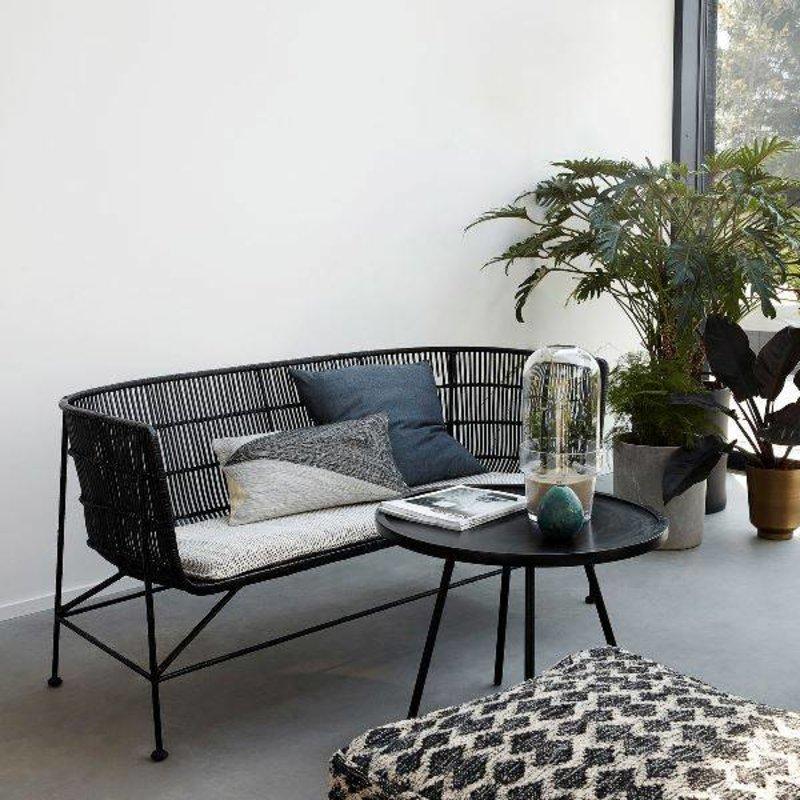 House Doctor-collectie Loungebank CUUN zwart rattan