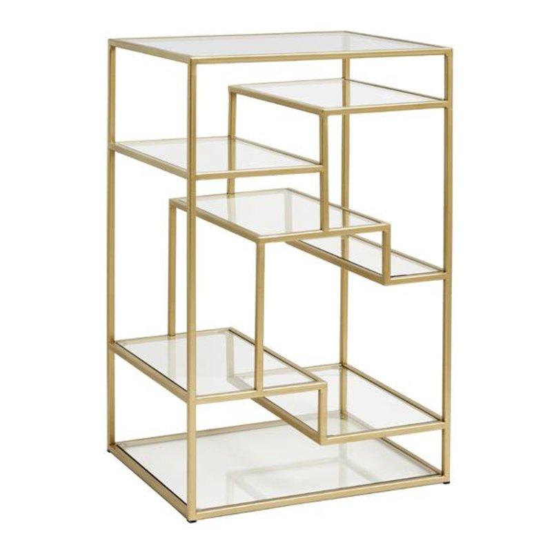 Nordal-collectie Glazen display kast goud