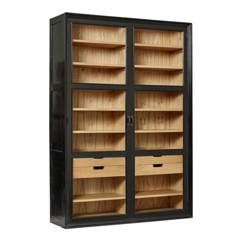 Nordal-collectie Kast VIVA - Zwart/hout