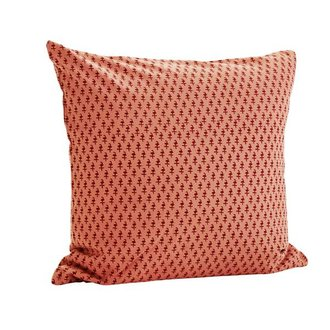 Madam Stoltz cushion cover rose/paprika pattern