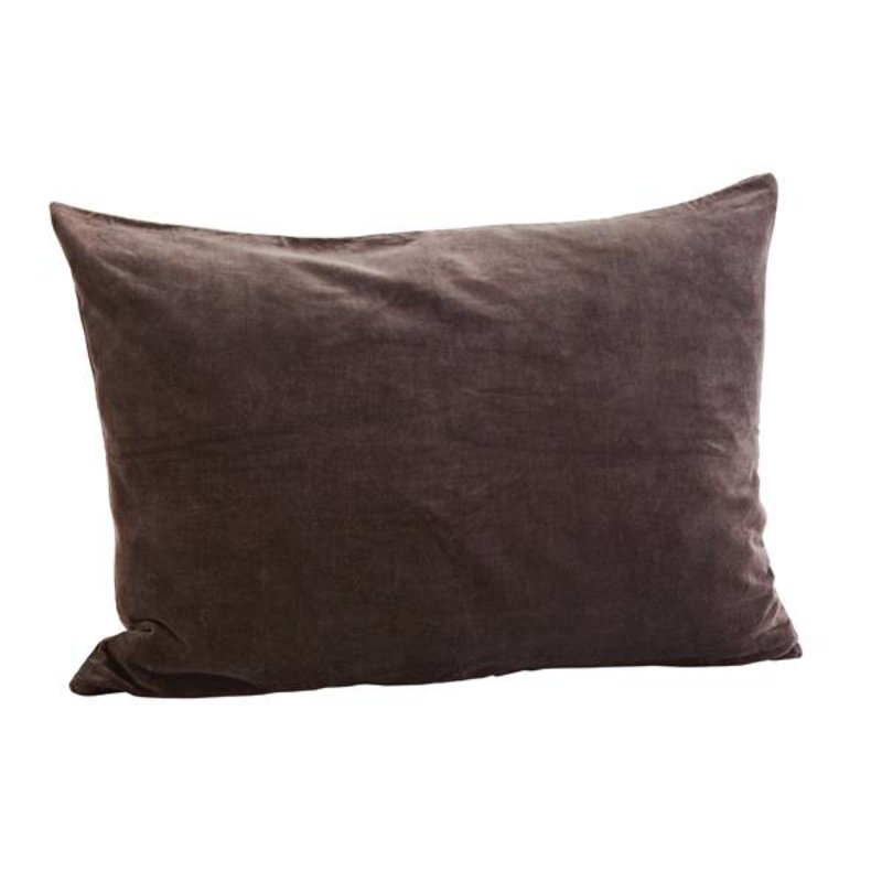 Madam Stoltz-collectie cushion cover velvet charcoal