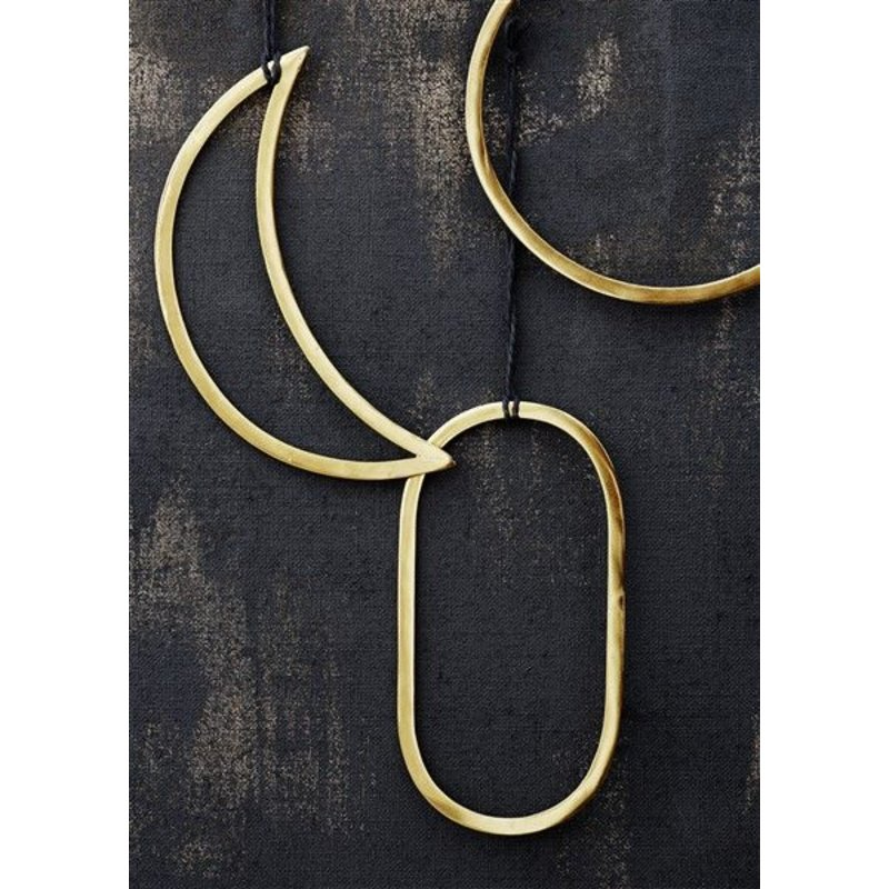 Madam Stoltz-collectie Hanging ring gold