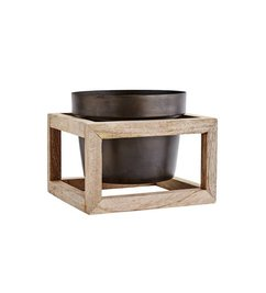 Madam Stoltz-collectie Flower pot with wooden frame