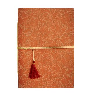 Madam Stoltz Notebook hazelnut - grey pattern