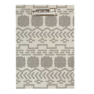 Madam Stoltz Clipboard with ecru - black pattern