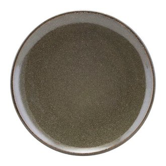 House Doctor Stoneware dinner plate LAKE green