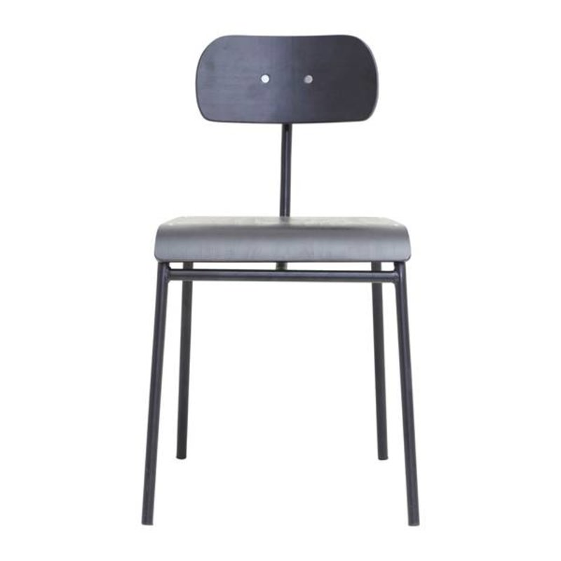 House Doctor-collectie Dining chair SCHOOL black
