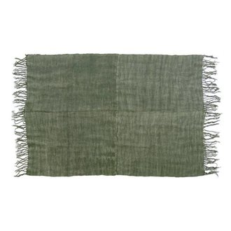 HK living Linen rug army green