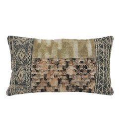 HK living  Cushion Patched multicolor