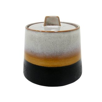 HKliving Ceramic sugar bowl retro 70's