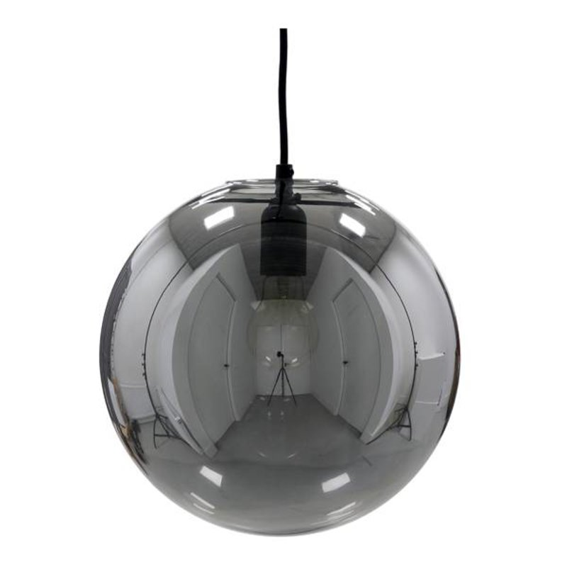HK living-collectie Lamp glass ball smokey grey