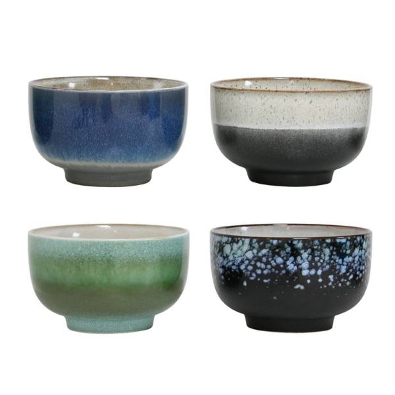 HK living-collectie Ceramic bowls 70's style (large) - set of 4