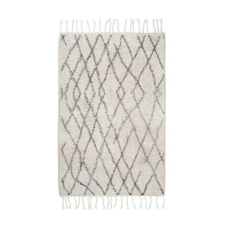 HK living Bath mat black and white checks (60x90)