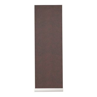 ferm LIVING Behang Coral bordeaux/donkerblauw
