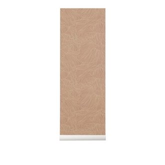 ferm LIVING Behang Coral dusty roze/beige