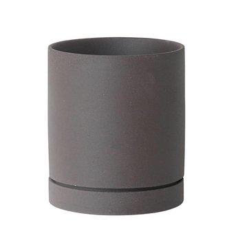 ferm LIVING Sekki bloempot houtskool medium