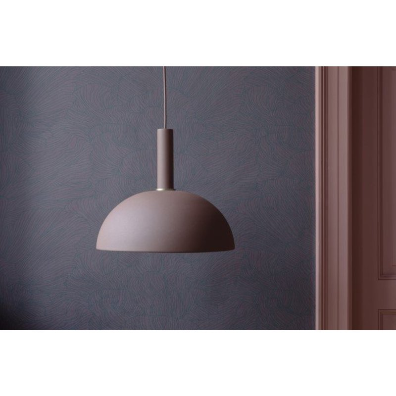 ferm LIVING-collectie Behang Coral bordeaux/donkerblauw