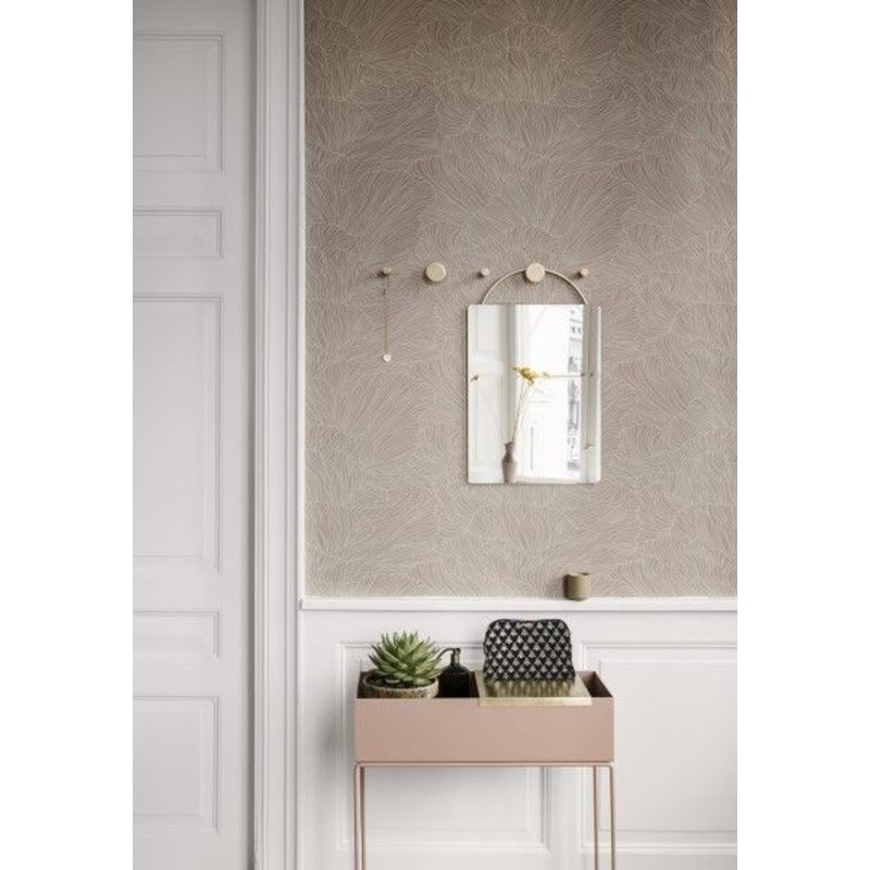 ferm LIVING-collectie Behang Coral dusty roze/beige