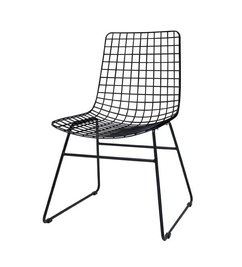 HK living-collectie Metal wire chair - black