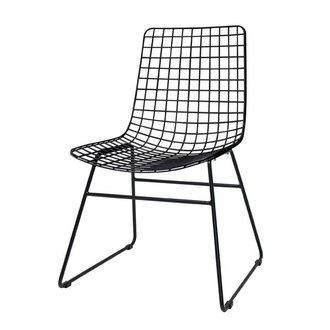 HKliving Metal wire chair - black