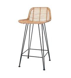 HK living-collectie Bar stool rattan - natural