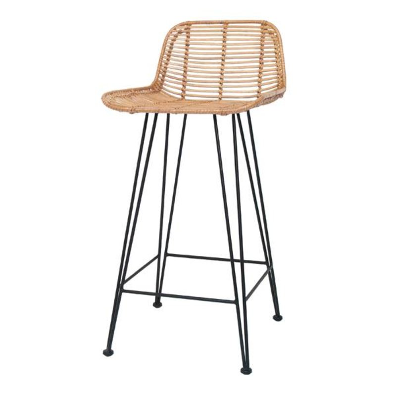 HKliving-collectie Bar stool rattan - natural
