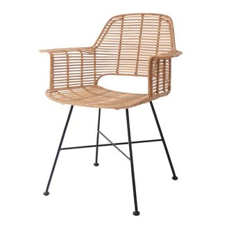 HK living Bucket seat rattan - natural