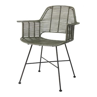 HK living Bucket seat rattan - olive green