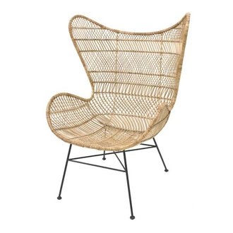 HK living Egg chair rattan bohemian - natural