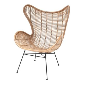 HK living Stoel rotan Egg chair - naturel