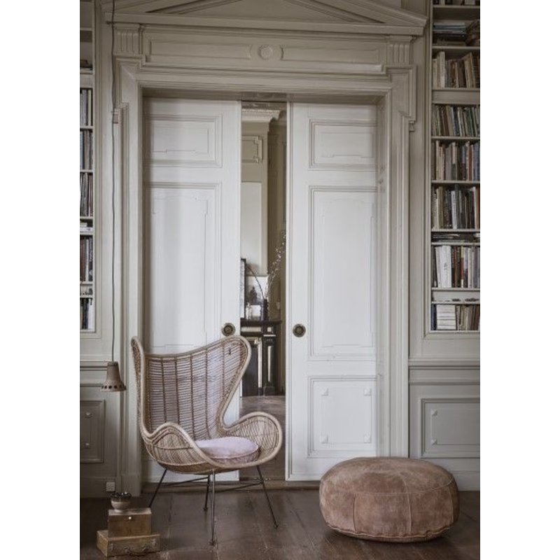 HKliving-collectie Egg chair rattan - natural