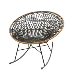 HK living-collectie Rocking chair rattan