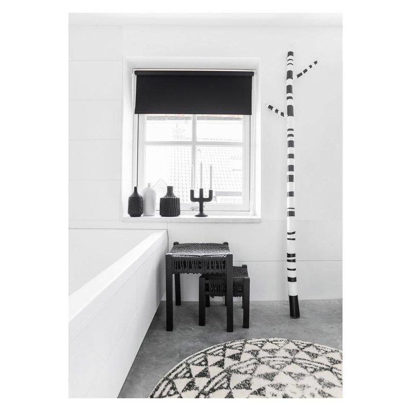 HK living-collectie Badmat rond zwart wit patroon (dia 80)