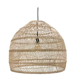 HK living  Hanglamp riet - naturel (dia 60)