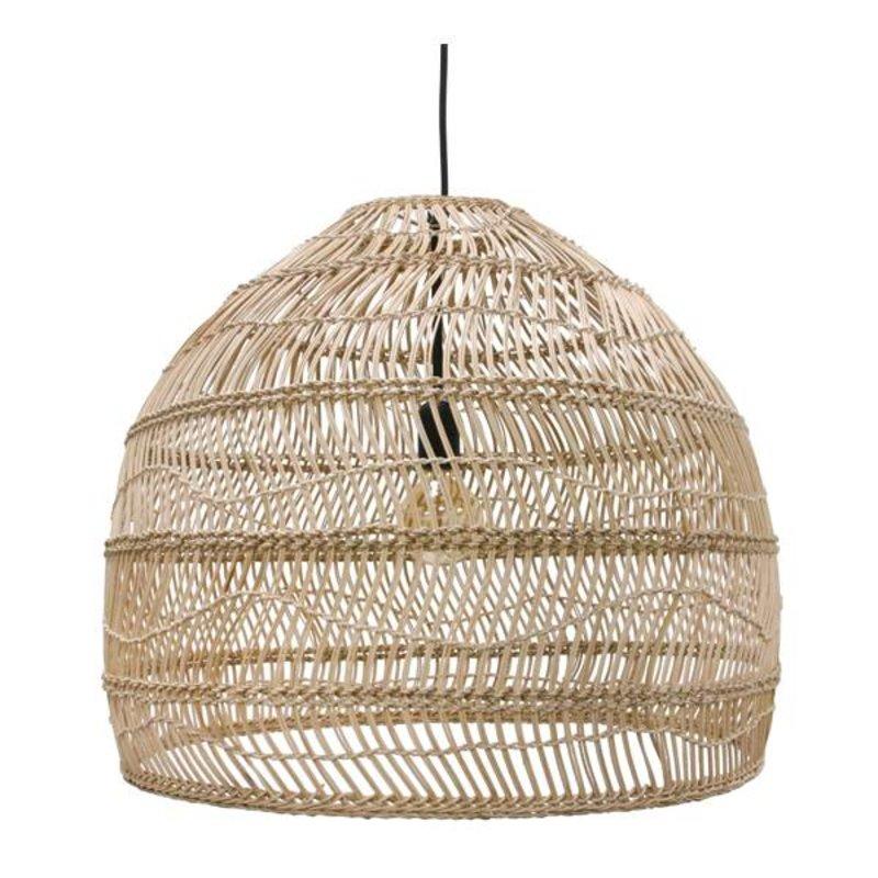 HK living-collectie HK Living hanglamp riet - naturel (dia 60)