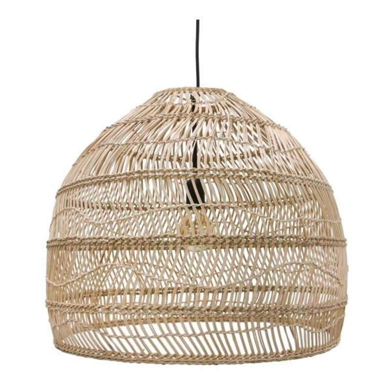 HKliving-collectie Hanglamp riet - naturel (dia 60)