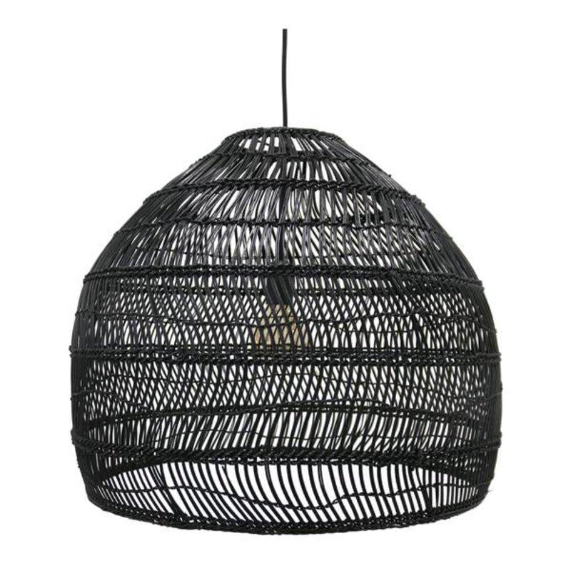 HK living-collectie Hanglamp riet - zwart (dia 60)