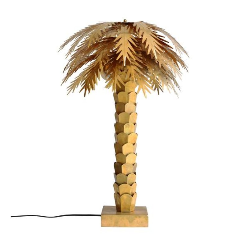 HK living-collectie Table lamp palm tree - brass