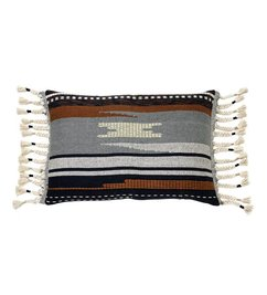 HK living-collectie Cushion Aztec multicolor with fringes