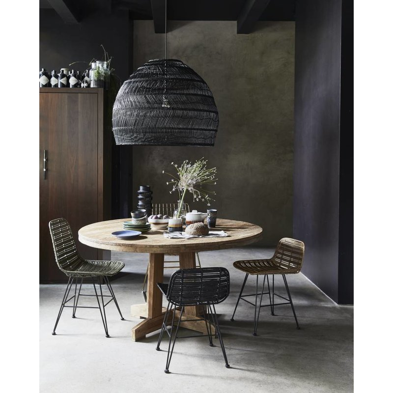 HKliving-collectie Lamp reed - black (dia 80)