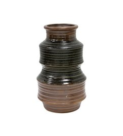 HK living-collectie Ceramic vase retro - brown